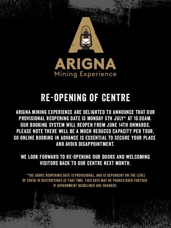 Arigna Mines is closed due to covid